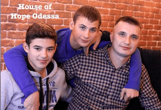 House of Hope - Petr and some of the kids
